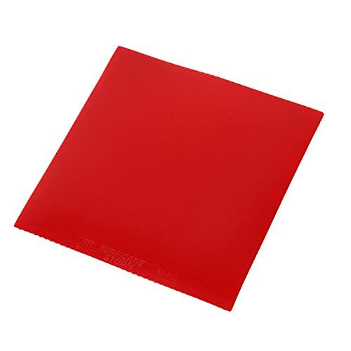 Kuuleyn Goma de Ping Pong, Goma de Paleta de Ping Pong, Goma de Tenis de Mesa Raquetas de Goma de Ping Pong para Deportes, para Atletas de Poca Fuerza y Mejora de la Capacidad de detección(Rojo)