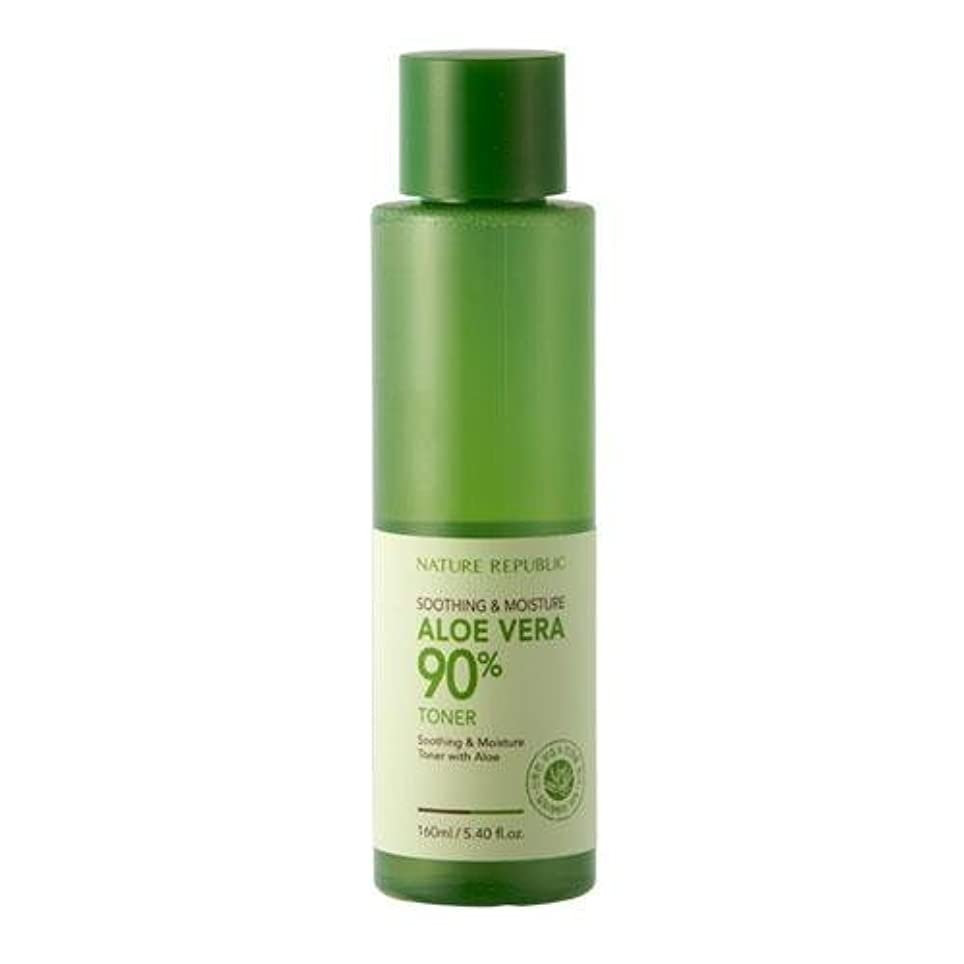 枢機卿狐恥ずかしさNATURE REPUBLIC Sooting&Moisture Aroevera 90% Toner [Korean Import]