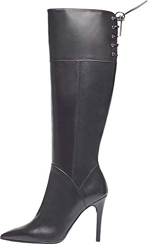 Poi Lei Damen-Schuhe High Heel Stiefel ELSA Echtleder Glattleder Stiletto - Handgefertigt in Europa