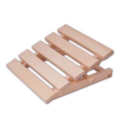 HOFMEISTER® Sauna-Kopfstütze, 40 cm, höhenverstellbar, aus robustem Linden-Holz, stabile Sauna Rückenlehne Made in EU, ergonomische Rückenstütze, Entspannen & Relaxen im Dampfbad