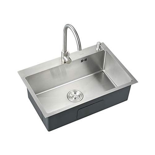 Learn More About 304 Stainless Steel Kitchen Sink Drain Set, Single Bowl for Kitchen Bar 323PPZYXXX ...