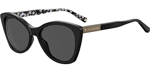 Moschino Love MOL031/S 203485-807/IR-54 - Gafas de sol para mujer, color negro