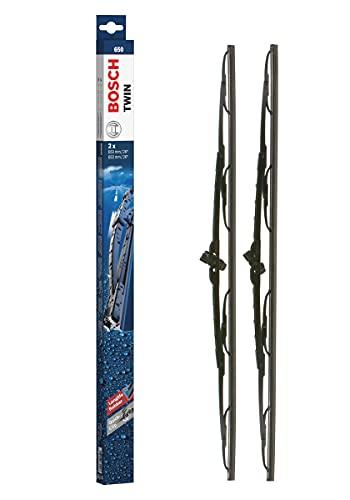Bosch Twin Escobilla limpiaparabrisas 650, Longitud: 650 mm 650 mm – 1 juego para el parabrisas (frontal)