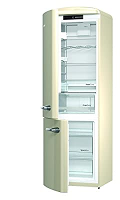 Gorenje ORK 193 X-L Fridge Freezer Combination A+ + + + + + Height 194 cm Fridge 227 L Freezer 95 L Silver FrostLess CrispZone Vintage Car Retro Collection