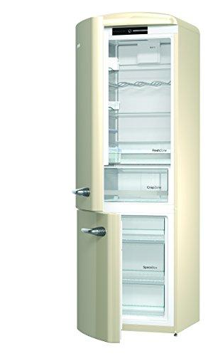 Gorenje ORK 193 x de l Réfrigérateur/Congélateur/A + + +/Hauteur 194 cm/kühlen : 227 l/gefrieren : 95 L/Silver/Frost Less/Crisp Zone/Oldtimer/Retro Collection beige