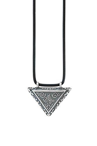 Remi Bijou 925 Silber Anhänger 'Muska' mit schwarzem Schnur - Islam Muslim - Schwarz Farbe