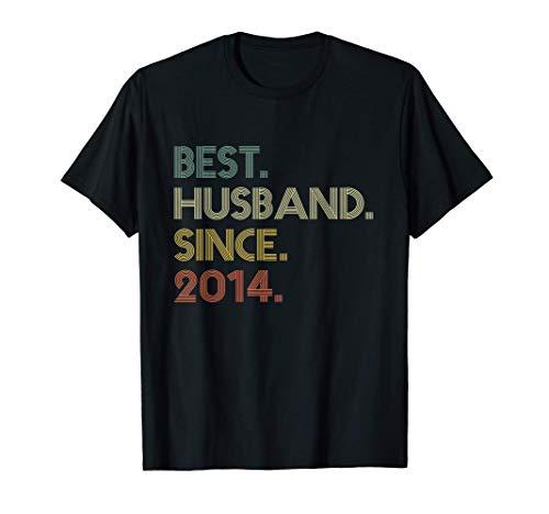 6th Wedding Anniversary Gift Husband Since 2014 Camiseta