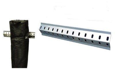 "Pit Posse 804 36"" Strap Rack Track Aluminum Tie Down Rail System Enclosed Cargo Trailer Van"