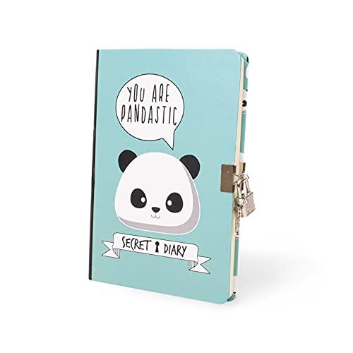 I-Total - Diario segreto fornito di lucchetto in metallo e due chiavi (Panda)