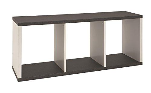 Lowboard, TV-Tisch bzw. Telefonboard in granitoptik-weiß aus MDF; Maße (B/T/H) in cm: 117 x 30 x 50