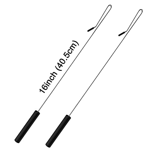 2 Pack 16 inch Puppet Handles Arm Control Rod Metal Puppet Stick Accessory for Small and Large Puppets