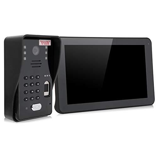 Videoportero con visión Nocturna, videoportero con Video y Foto 1080P, Kit de Control de Acceso de 100-240V, con(European regulations)