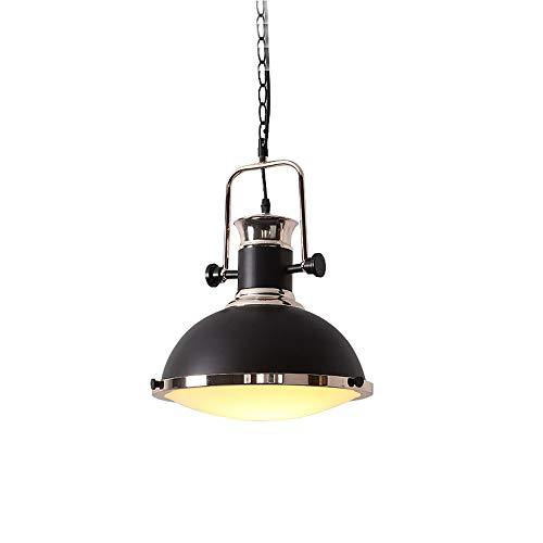 Kronleuchter, Vintage-Industriestil, Schmiedeeisen, 220 V, Schwarze Kappe, Glühlampe, LED-Licht, Kappentyp: E27 (ohne Glühbirne) für Café-Schlafzimmer-Restaurant-Bekleidungsgeschäft (Größe: