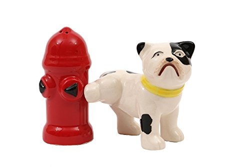 Dog & Fire Hydrant Salt and Pepper Shakers