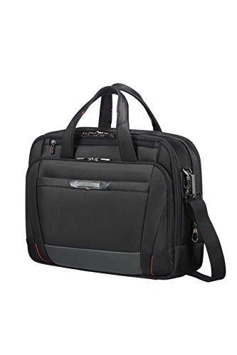 Samsonite PRO-DLX 5 - Bailhandle Expandable for 15.6 pulgadas Laptop 17/23L 2.6 Kg Maletín, 42 cm, 17 litros, Negro (Black)