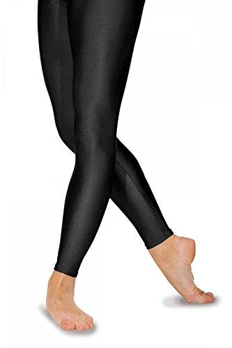 Roch Valley FLST Ballett Strumpfhosen ohne Fußteil aus Lycra Schwarz 2 (134-140cm)