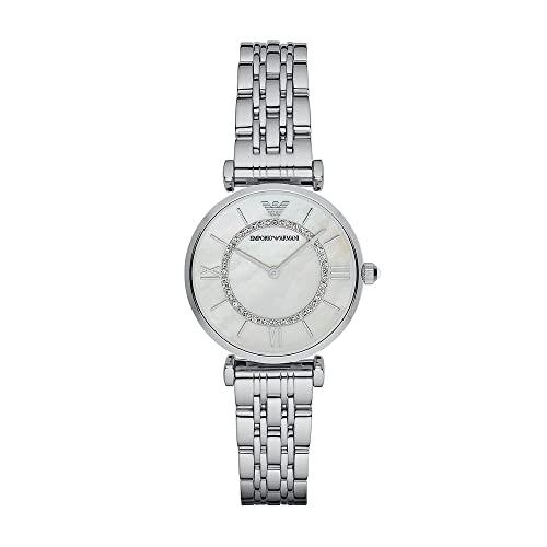 Emporio Armani Damen Analog Quarz Uhr mit Edelstahl Armband AR1908