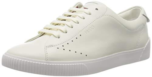 HUGO Damen Zero_Tenn_N Sneaker, White100, 39 EU