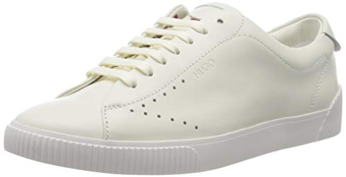 HUGO Damen Zero_Tenn_N Sneaker, White100, 40 EU