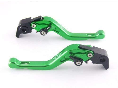 Strada 7 Racing Court Réglable Leviers Paire Vert pour Kawasaki Ninja 650R (ER-6f ER-6n)