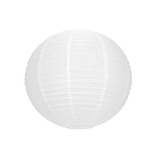 Party Lampion Boule Chinoise Blanche, Lanterne Japonaise, 35 cm de diamètre, à Suspendre