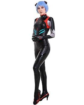 Cosplay.fm Women s Rei Ayanami Cosplay Costume Black Bodysuit  L Black