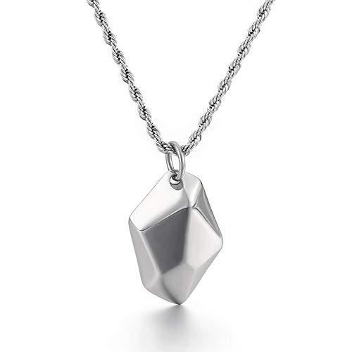 RVS Hanger, Wishing Stone Ketting met 22'' Twist keten verjaardagscadeau voor Vrouwen Mannen,A