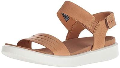ECCO Women's Flowt Strap Sandal, Lion/Cashmere, 40 M EU (9-9.5 US)
