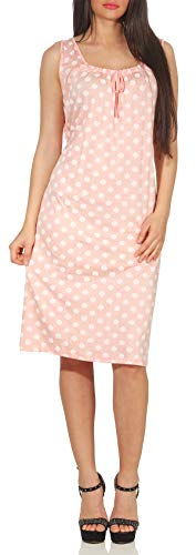 Matyfashion angesagtes Sommerkleid Strandkleid Maxikleid mit Print Freizeitkleid (Rosa)