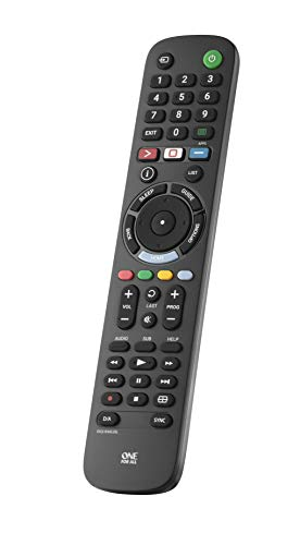 One For All Sony TV Fernbedienung - Funktioniert mit Allen Sony TV/Smart TV - die ideale TV-Ersatzfernbedienung - URC4912