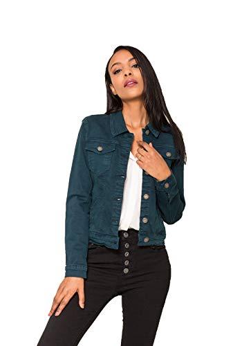 Crazy Age Damen Jeansjacke Blazer Übergangsjacke Sommer Jacke (M~36, Mint)