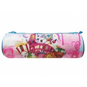 "Shopkins 875-7272 ""Awesome Round Pencil Case"