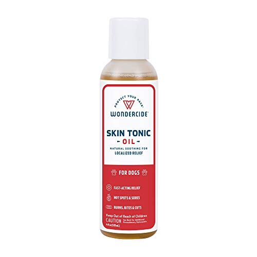 Wondercide - Skin Tonic Oil for Hot Spot, Itch, and Rash Relief with Natural Essential Oils - First Aid Remedy for Dogs - 4 oz