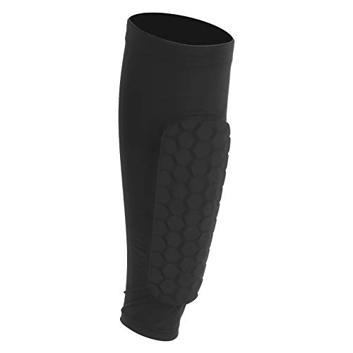 Jopwkuin Manicotto Sportivo per Polpaccio, Protezione per Polpaccio Nero Elasticità Rinforzata con Forza Super Elastica Comodo per prevenire Il tremore Muscolare per Proteggere Il Polpaccio(XL)