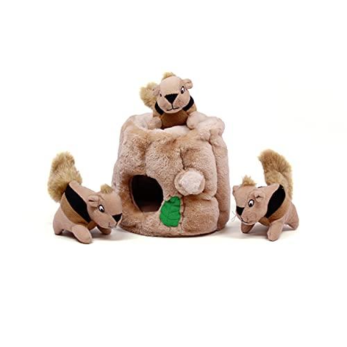 Outward Hound Hide A Squirrel Plush Dog Toy Puzzle, Medium