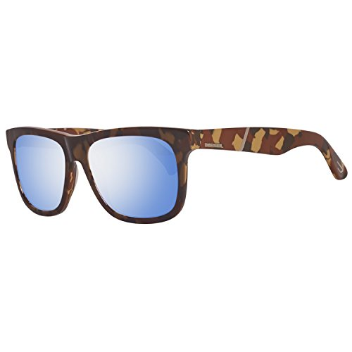Diesel DL0116 5444X Sonnenbrille DL0116 5444X Rechteckig Sonnenbrille 54, Braun