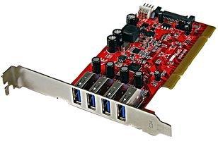 STARTECH.COM Scheda PCI con 4 Porte USB 3.0 Superspeed con Alimentazione Sata/Sp4