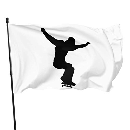 suizhoufa Flagge/Fahne Skateboard Skater Decorative Garden Flags Outdoor Artificial Flag for Home Garden Yard Decorations 3x5 Ft