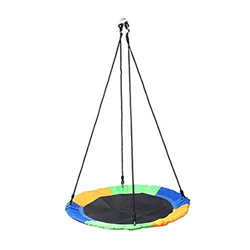 Hbao Outdoor Kinder Schaukel 1M 40inch Untertasse drehen Baumnest Schaukel 900D 600lbs Flying Riesenseil Round...