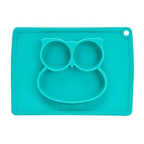 BANGBANGSHOP Baby Zuig Platen, Mini Siliconen Plaats Matten voor Keuken Tafel Fit Meest Hoge Stoel Trays Kids Voeding Bowl Kind Stick Placemats Set Groen