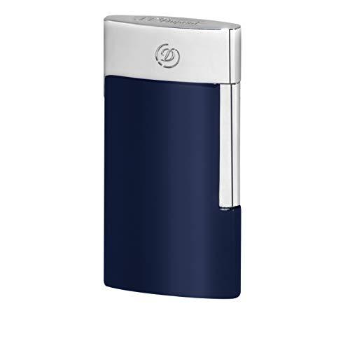 S.T. Dupont E-Slim Feuerzeug blau/Chrom