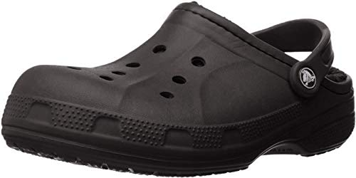 crocs Unisex Winter Clog Mule, Black/Black, 10 US Men / 12 US Women