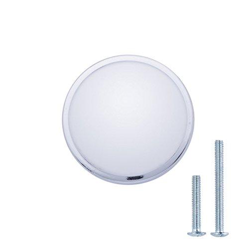 AmazonBasics - Pomo de armario, con forma de seta, 3,02 cm de diámetro, cromo pulido - paquete de 10