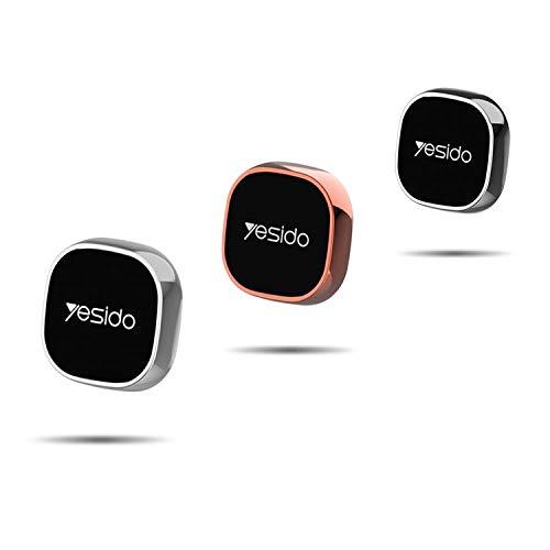 YESIDO Handyhalter Fürs Auto, klein und praktisch Magnet Schlüsselhalter zum kleben, Handyhalterung + 2 Magnetplatten fürs Handy magnetisch für alle Handys Kleber wiederverwendbar (Silber)
