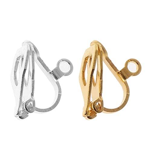 SKYVII, 20 orecchini a clip con anello facile da aprire, orecchini fai da te