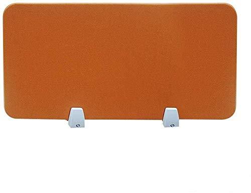 LUOSFUH Schreibtischaufsatz Akustik Trennwand schallabsorbierend Schreibtisch Trennwand Cubicle Panel mit 2 Klemmhalterungen