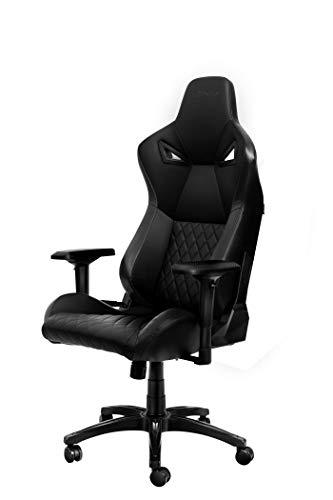 KARNOX Legend TR Silla de Oficina para Juegos Racing Style con Altura Ajustable y reposabrazos, reclinable ergonómico de 155 °, Respaldo Alto con reposacabezas Integrado (Negro)