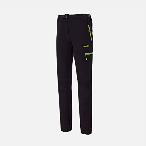 Izas Wengen Pantalón de montaña, Mujer, Black/Light Green, XXS