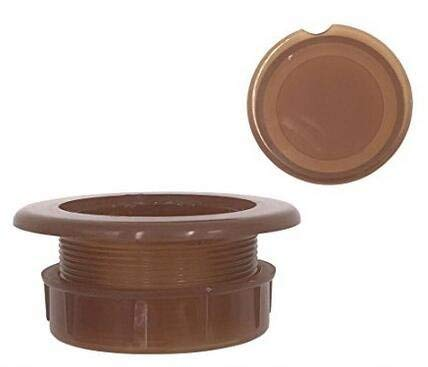 HTTH 2' Silicon Umbrella Table Hole Cap - Patio Table Umbrella Thicker Hole Ring Plug and Cap Set,Brown