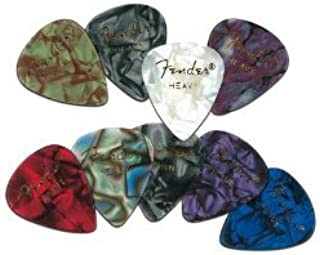 Fender 351 Premium Celluloid Guitar Picks, 12 Pack, Abalone, Heavy
